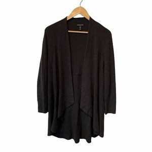 Eileen Fisher ribbed tunic length open front cardigan SP